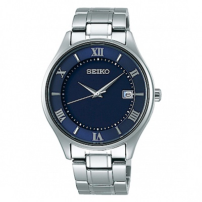 SEIKO精工 藍寶石鏡面鈦金屬太陽能腕錶/SBPX115J/V157-0CZ0B