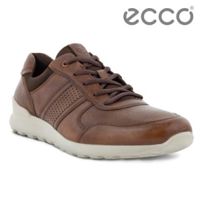 ECCO CS20 M 皮革運動風休閒鞋 網路獨家 男鞋 咖啡色