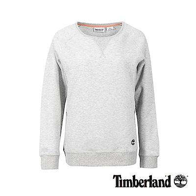 Timberland 女款灰色品牌LOGO運動長袖上衣|B3802