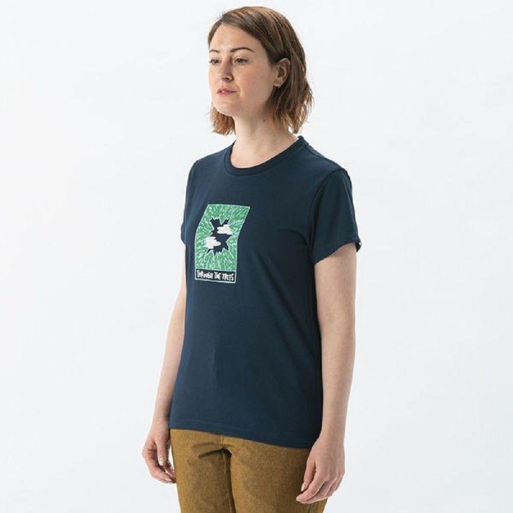 MILLET 女 HUGO TREE&CLOUD 排汗短袖T恤 海軍藍-MIV017880194