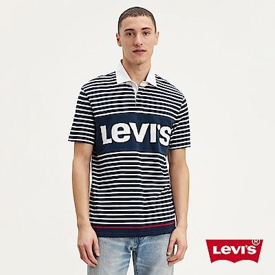 Levis 男款 橄欖球T 字母Logo