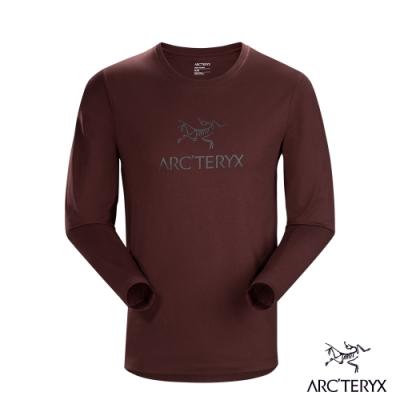 Arcteryx 始祖鳥 男 24系列 LOGO 百分百有機棉 長袖T恤 溶劑褐