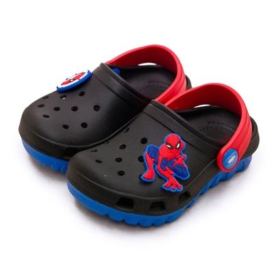 MARVEL 漫威 蜘蛛人 SPIDER-MAN 輕量兒童園丁涼、拖鞋 台灣製造 黑藍紅 09590