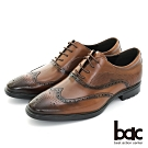 【bac】輕量舒適 翼紋雕花輕量商務鞋-棕