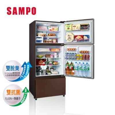 [福利品] SAMPO 聲寶 580公升一級能效全平面鋼板系列變頻三門冰箱 SR-B58DV(R9)