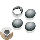 【任選】德國《REER》設計風-桌角防撞保護貼/深灰(4入)