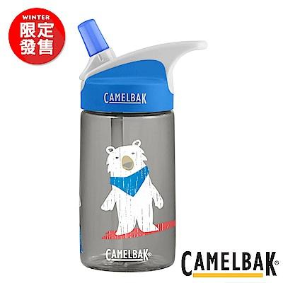 《CAMELBAK》兒童吸管運動水瓶 滑雪白熊  400 ml (CB 1579002140 )