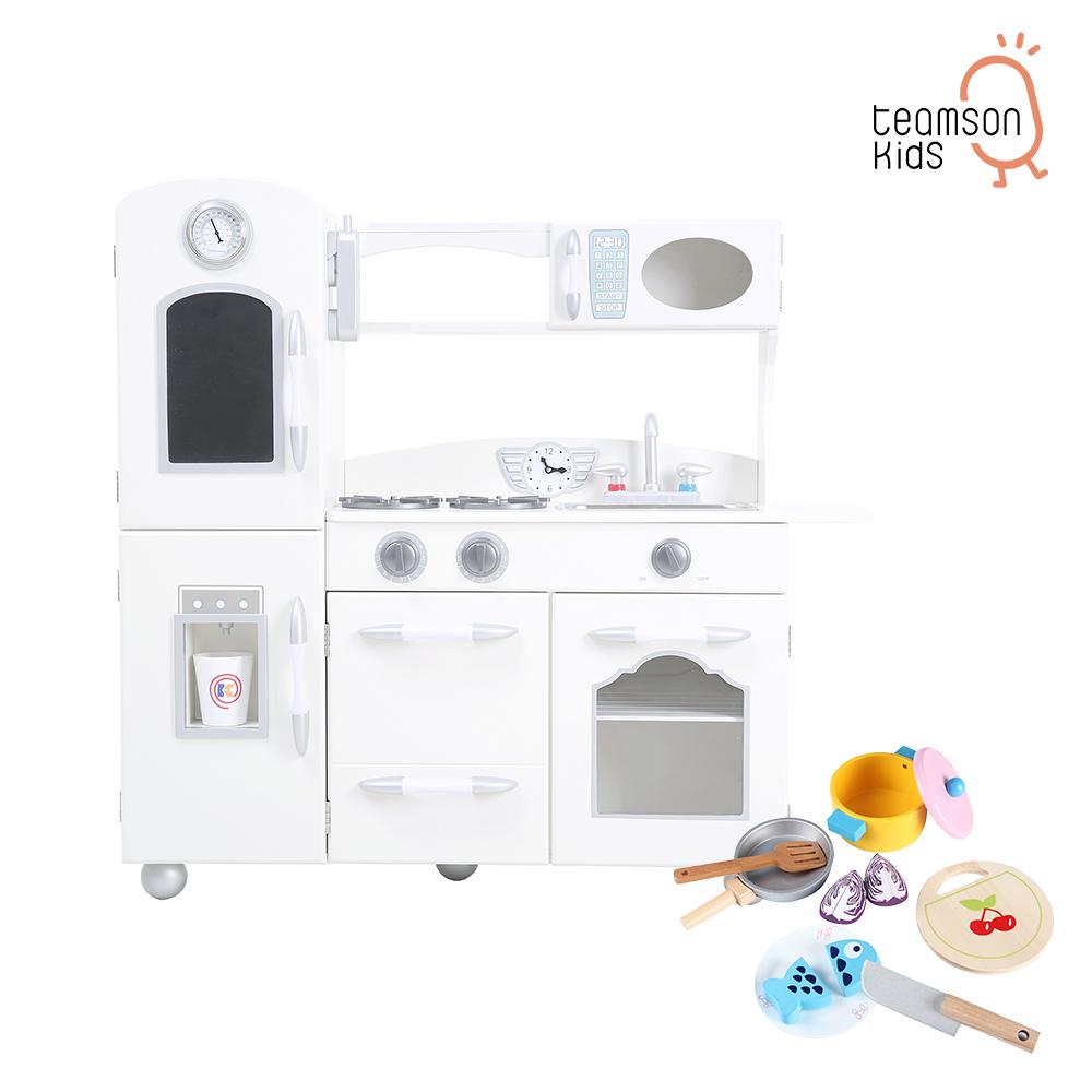 Teamson 奧蘭多北歐風木製廚房玩具配件組合(2色)