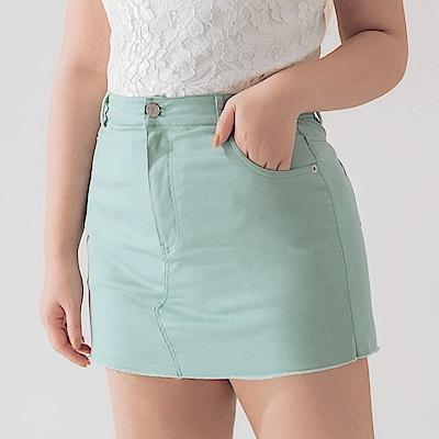 AIR SPACE PLUS 不收邊軟料顯瘦褲裙(粉綠)