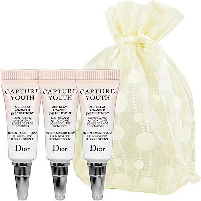 Dior迪奧 凍妍新肌眼部精華乳(2ml)*3旅行袋組