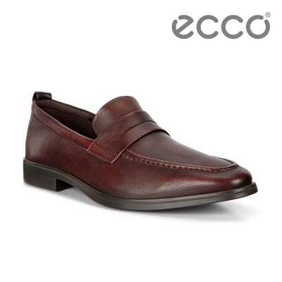 ECCO MELBOURNE 紳士商務正裝樂福鞋 男鞋-褐色