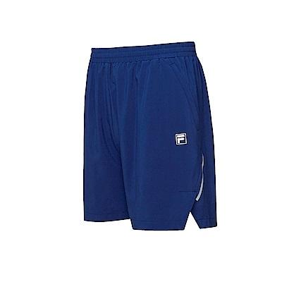 FILA 男款抗UV平織短褲-藍紫 1SHT-1312-DB