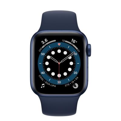 Apple Watch Series 6 (GPS+行動網路) 40mm 藍色鋁金屬錶殼+藍色錶帶(M06Q3TA/A)