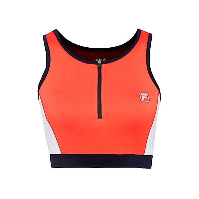 FILA 女抗UV吸濕排汗單穿背心-桔紅 5TKS-5310-OR