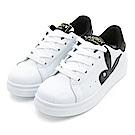 PLAYBOY潮流最IN~極簡仿皮綁帶休閒鞋-白黑