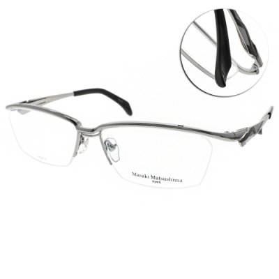 Masaki Matsushima眼鏡 日系工藝流線款/槍黑 #MMF1228 C02