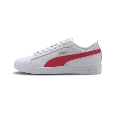 PUMA-Smash Wns v2 L 復古網球運動鞋-白色