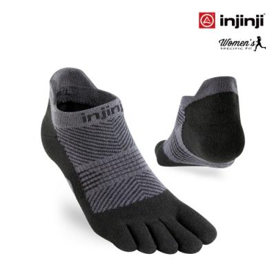 【INJINJI】RUN女輕量吸排五趾隱形襪[黑色] 五指襪 隱形襪 運動襪 五趾襪