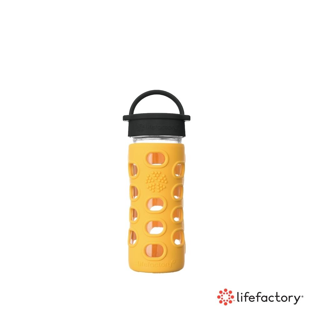 lifefactory 玻璃水瓶平口350ml-黃色(CLA-350-YLB)