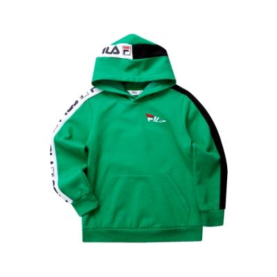 FILA KIDS 童長袖針織帽T恤-綠色 1TET-8438-GN