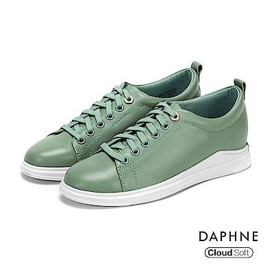 達芙妮DAPHNE 休閒鞋-金屬環釦真皮綁帶休閒鞋-錄