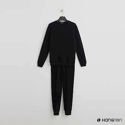 Hang Ten - 女裝 - F.TERRY 系列-簡約純色棉質套裝-黑