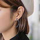 簡約感小繩結耳環-OB大尺碼