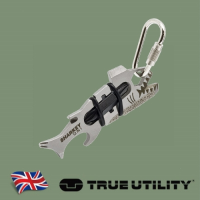 【TRUE UTILITY】英國多功能12合1大白鯊造型工具組SHARKEY(吊卡版)
