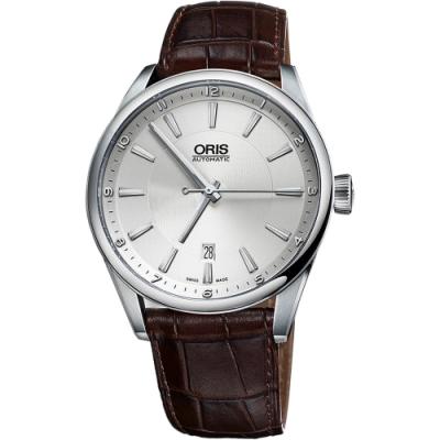 ORIS 豪利時 ARTIX DATE 日期機械錶-銀x咖啡/42mm