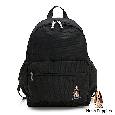 Hush Puppies 休閒後背包-黑色