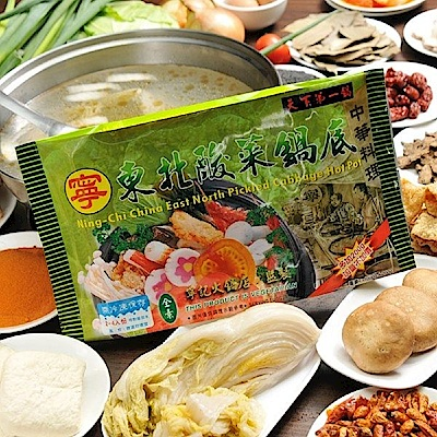 寧記 東北酸菜鍋底-素(1000g/份)