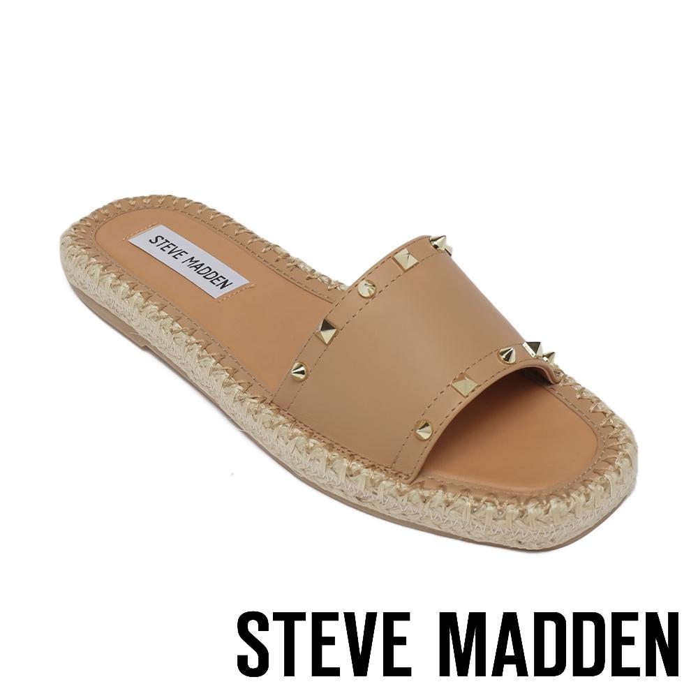 STEVE MADDEN-ST.JOHNS 平底編織涼鞋-卡其色