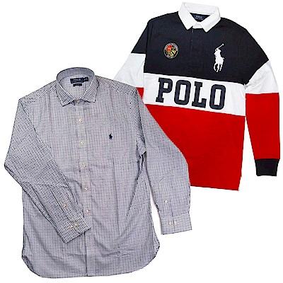 [時時樂]Ralph Lauren馬球Logo長袖Polo衫/帽T/牛津襯衫(多款)