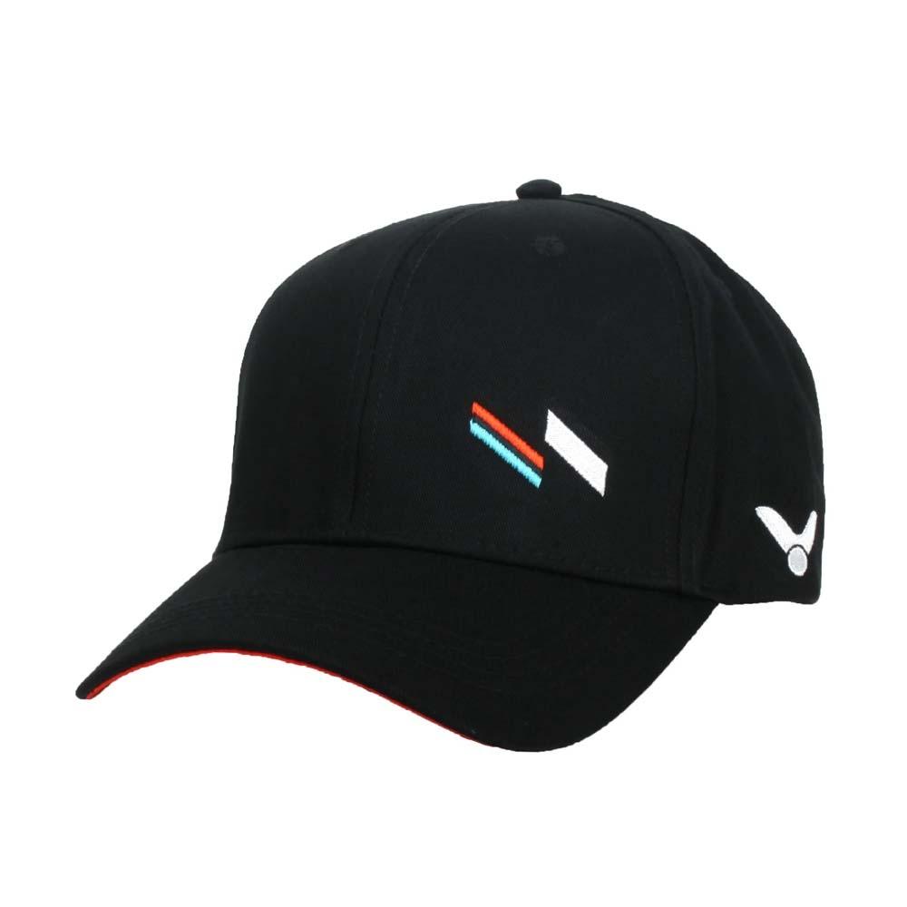 VICTOR 運動帽-純棉 帽子 遮陽 防曬 羽毛球 勝利 戴資穎 C-VC211 黑白藍橘