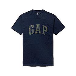GAP 熱銷經典文字短袖T恤-深藍色