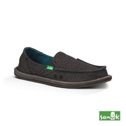 SANUK 素面內民俗圖騰懶人鞋 女款(黑色)SWF10437 BLK