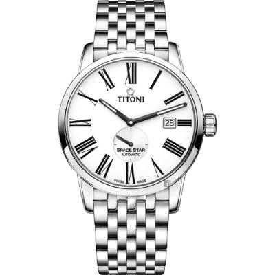 TITONI 梅花錶 天星系列機械錶(83638 S-608)-銀/40mm