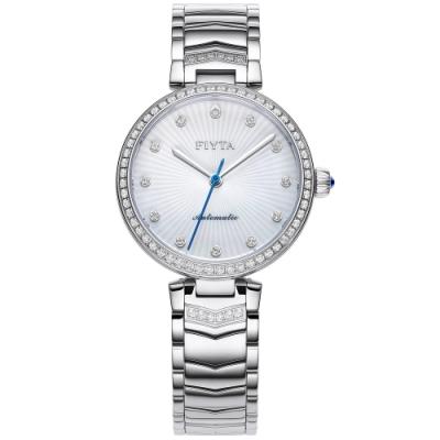 FIYTA飛亞達 心弦系列機械錶(LA869008.WWWH)-銀色/32mm