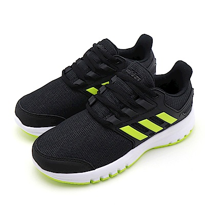 ADIDAS-中大童慢跑鞋CP8796-黑螢光綠