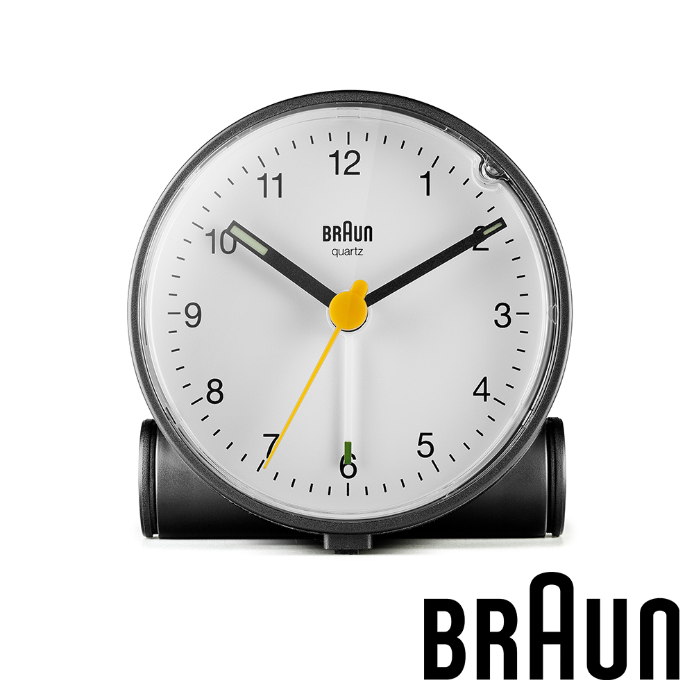 德國百靈 BRAUN 經典復古版圓形鬧鐘 (BC01BW)-黑白雙色