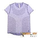 ADIDAS 女短袖上衣 CD6420 藕紫