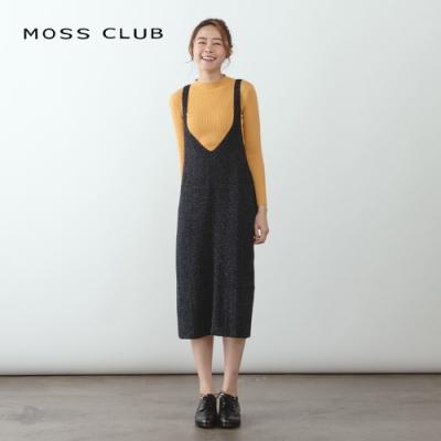 【MOSS CLUB】吊帶顯瘦針織衫-連身裙(三色)