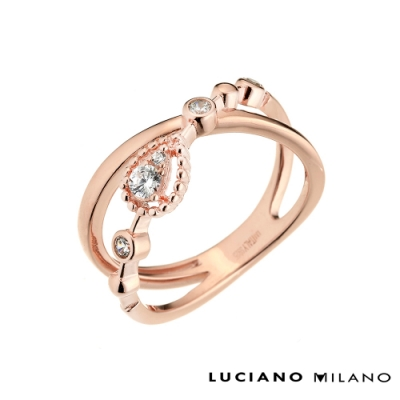 LUCIANO MILANO 千年之戀純銀戒指