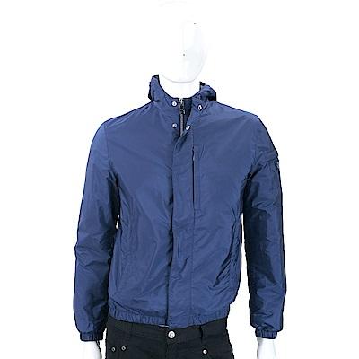 PRADA 三角牌寶藍色連帽防風外套(男款)