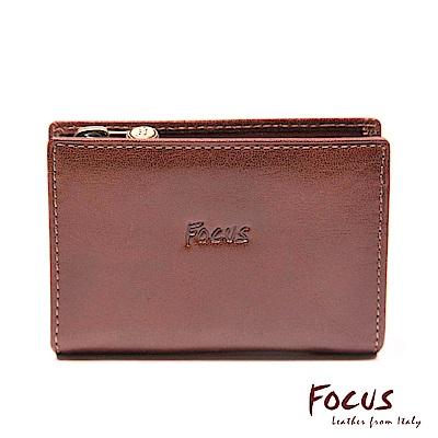 FOCUS經典原皮卡夾零錢包(FTA0056)