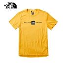 The North Face北面男款黃色吸濕排汗透氣短袖T恤|3RGM70M