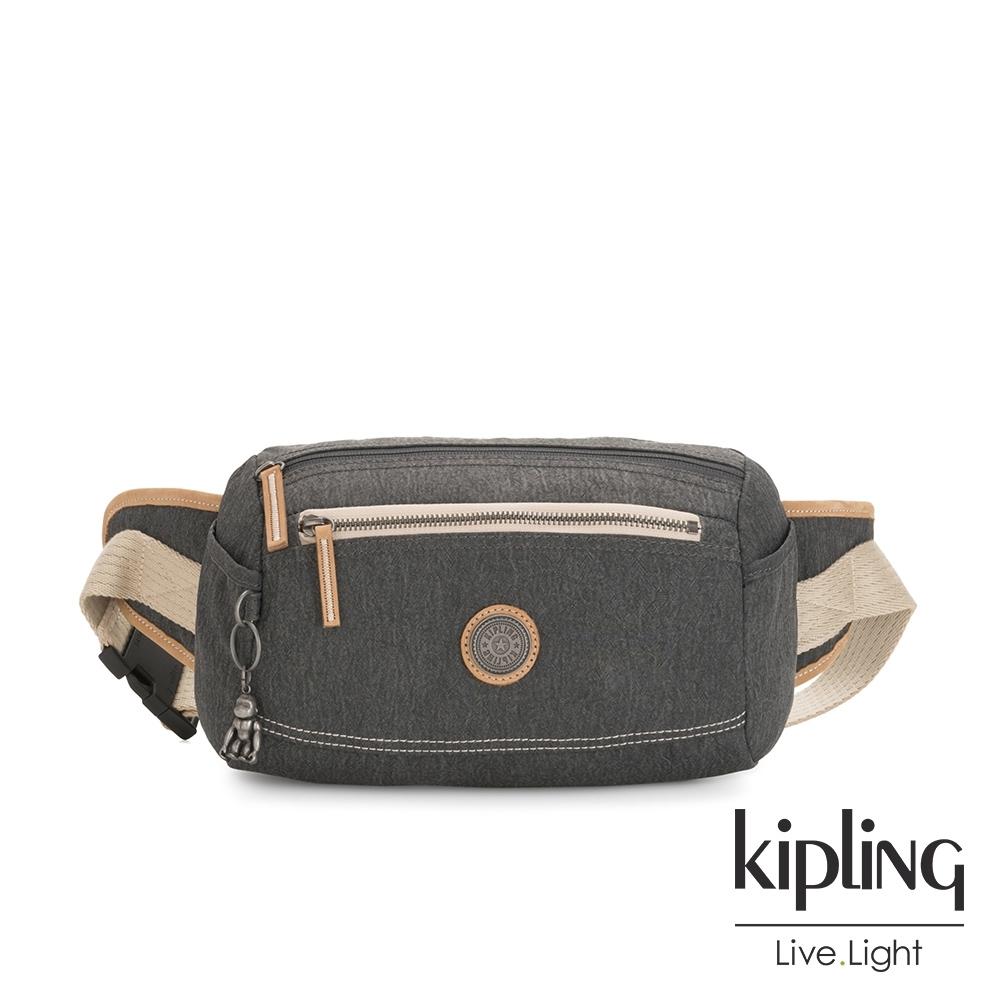 Kipling 邊緣地帶系列城市探索霧灰潮流隨身腰包-FOX