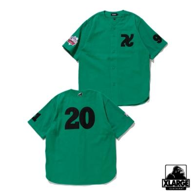 XLARGE BASEBALL SHIRT刺繡棒球襯衫-綠