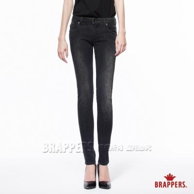 BRAPPERS 女款 新美腳Royal系列-中低腰彈性窄管褲-黑