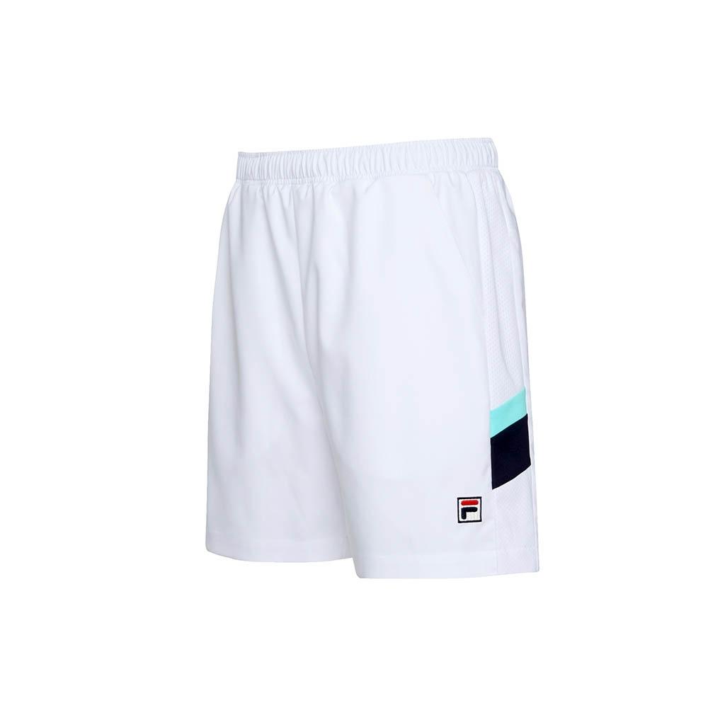 FILA 男平織短褲-白色 1SHU-1004-WT